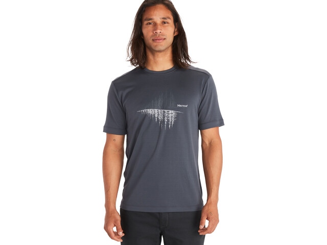 Marmot Hike Leisure SS Tee Men, dark steel